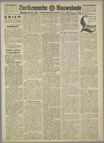 Zierikzeesche Nieuwsbode 1922-01-23