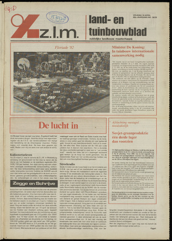 Zeeuwsch landbouwblad ... ZLM land- en tuinbouwblad 1982-04-16