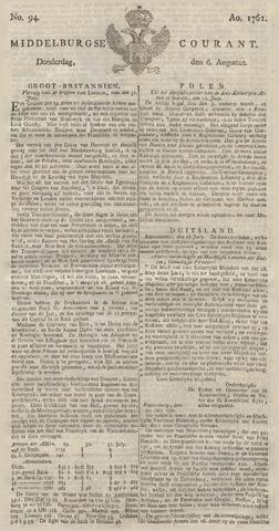 Middelburgsche Courant 1761-08-06