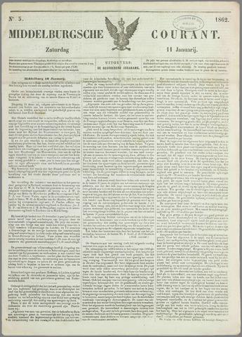 Middelburgsche Courant 1862-01-11