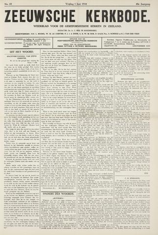Zeeuwsche kerkbode, weekblad gewijd aan de belangen der gereformeerde kerken/ Zeeuwsch kerkblad 1934-06-01
