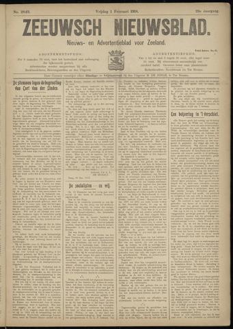 Ter Neuzensch Volksblad. Vrijzinnig nieuws- en advertentieblad voor Zeeuwsch- Vlaanderen / Zeeuwsch Nieuwsblad. Nieuws- en advertentieblad voor Zeeland 1918-02-01