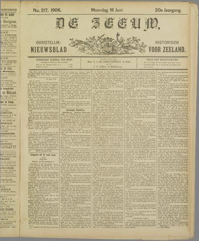 De Zeeuw. Christelijk-historisch nieuwsblad voor Zeeland 1906-06-18