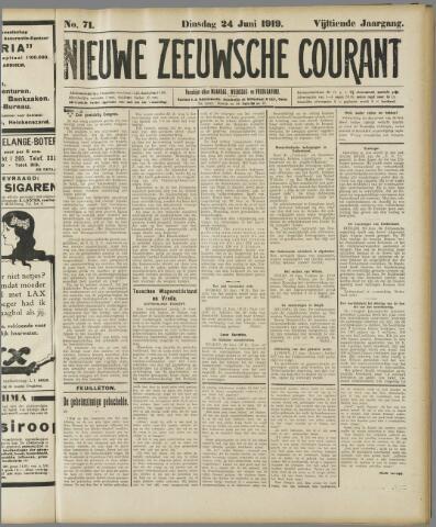 Nieuwe Zeeuwsche Courant 1919-06-24