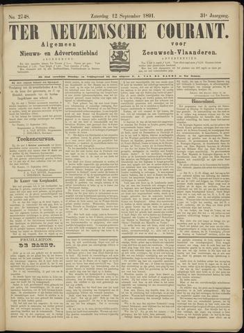 Ter Neuzensche Courant. Algemeen Nieuws- en Advertentieblad voor Zeeuwsch-Vlaanderen / Neuzensche Courant ... (idem) / (Algemeen) nieuws en advertentieblad voor Zeeuwsch-Vlaanderen 1891-09-12