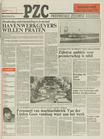 Provinciale Zeeuwse Courant 1977-02-22