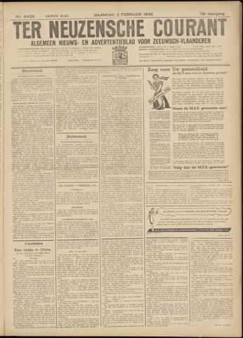 Ter Neuzensche Courant. Algemeen Nieuws- en Advertentieblad voor Zeeuwsch-Vlaanderen / Neuzensche Courant ... (idem) / (Algemeen) nieuws en advertentieblad voor Zeeuwsch-Vlaanderen 1936-02-03