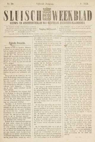 Sluisch Weekblad. Nieuws- en advertentieblad voor Westelijk Zeeuwsch-Vlaanderen 1874-12-18