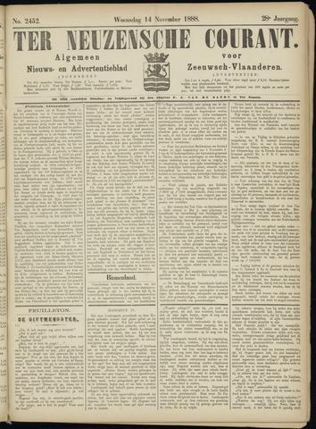 Ter Neuzensche Courant. Algemeen Nieuws- en Advertentieblad voor Zeeuwsch-Vlaanderen / Neuzensche Courant ... (idem) / (Algemeen) nieuws en advertentieblad voor Zeeuwsch-Vlaanderen 1888-11-14