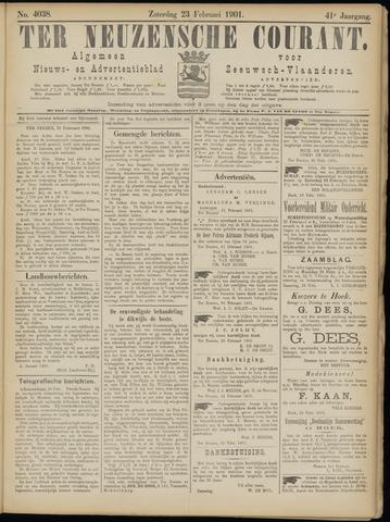Ter Neuzensche Courant. Algemeen Nieuws- en Advertentieblad voor Zeeuwsch-Vlaanderen / Neuzensche Courant ... (idem) / (Algemeen) nieuws en advertentieblad voor Zeeuwsch-Vlaanderen 1901-02-23