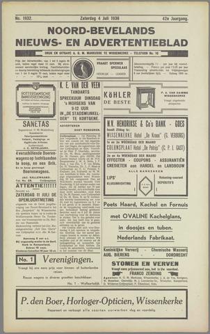 Noord-Bevelands Nieuws- en advertentieblad 1936-07-04