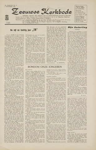 Zeeuwsche kerkbode, weekblad gewijd aan de belangen der gereformeerde kerken/ Zeeuwsch kerkblad 1965-11-05
