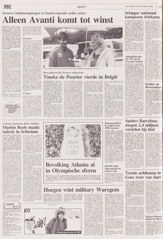 Provinciale Zeeuwse Courant   8 september 1990   pagina 53
