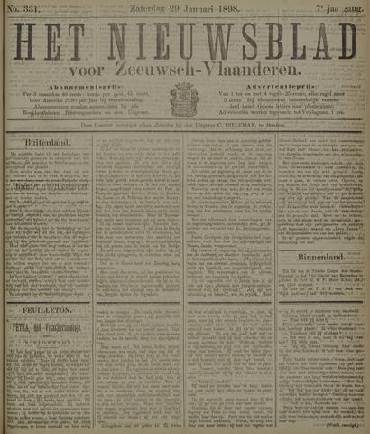 Nieuwsblad voor Zeeuwsch-Vlaanderen 1898-01-29