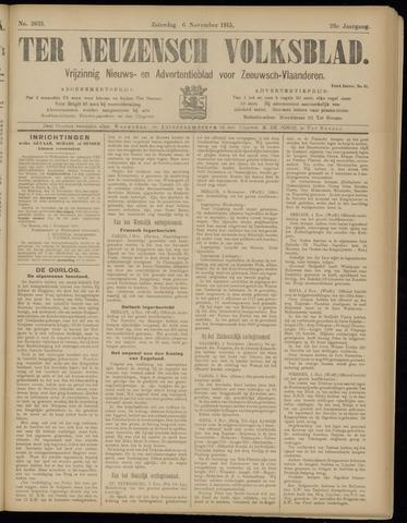 Ter Neuzensch Volksblad. Vrijzinnig nieuws- en advertentieblad voor Zeeuwsch- Vlaanderen / Zeeuwsch Nieuwsblad. Nieuws- en advertentieblad voor Zeeland 1915-11-06