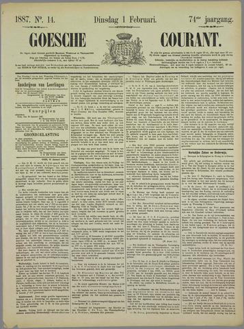 Goessche Courant 1887-02-01