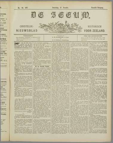 De Zeeuw. Christelijk-historisch nieuwsblad voor Zeeland 1897-12-16