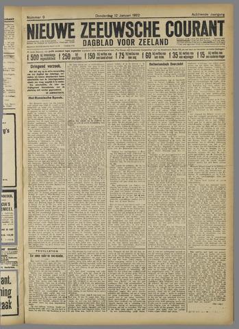 Nieuwe Zeeuwsche Courant 1922-01-12