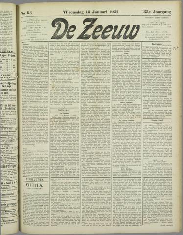 De Zeeuw. Christelijk-historisch nieuwsblad voor Zeeland 1921-01-19