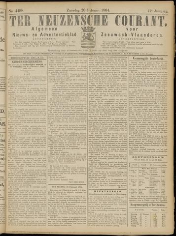 Ter Neuzensche Courant. Algemeen Nieuws- en Advertentieblad voor Zeeuwsch-Vlaanderen / Neuzensche Courant ... (idem) / (Algemeen) nieuws en advertentieblad voor Zeeuwsch-Vlaanderen 1904-02-20