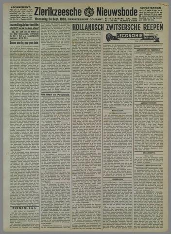Zierikzeesche Nieuwsbode 1930-09-24