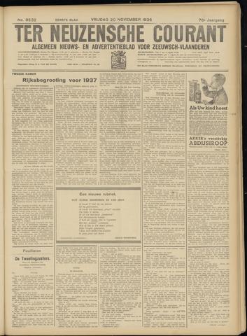 Ter Neuzensche Courant. Algemeen Nieuws- en Advertentieblad voor Zeeuwsch-Vlaanderen / Neuzensche Courant ... (idem) / (Algemeen) nieuws en advertentieblad voor Zeeuwsch-Vlaanderen 1936-11-20