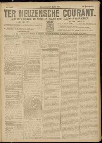 Ter Neuzensche Courant. Algemeen Nieuws- en Advertentieblad voor Zeeuwsch-Vlaanderen / Neuzensche Courant ... (idem) / (Algemeen) nieuws en advertentieblad voor Zeeuwsch-Vlaanderen 1914-06-13