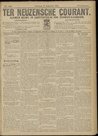 Ter Neuzensche Courant. Algemeen Nieuws- en Advertentieblad voor Zeeuwsch-Vlaanderen / Neuzensche Courant ... (idem) / (Algemeen) nieuws en advertentieblad voor Zeeuwsch-Vlaanderen 1914-08-18