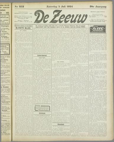 De Zeeuw. Christelijk-historisch nieuwsblad voor Zeeland 1924-07-05