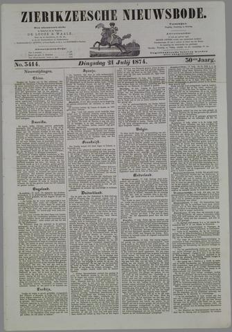 Zierikzeesche Nieuwsbode 1874-07-21