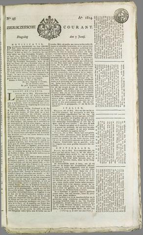 Zierikzeesche Courant 1814-06-07