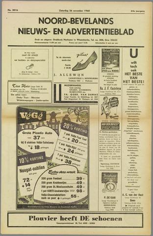 Noord-Bevelands Nieuws- en advertentieblad 1960-11-26