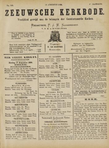 Zeeuwsche kerkbode, weekblad gewijd aan de belangen der gereformeerde kerken/ Zeeuwsch kerkblad 1890-08-16