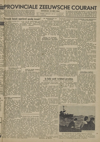 Provinciale Zeeuwse Courant 1944-05-16