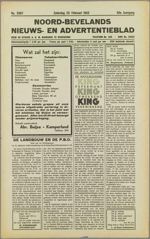 Noord-Bevelands Nieuws- en advertentieblad 1952-02-23