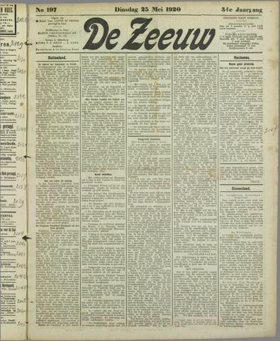 De Zeeuw. Christelijk-historisch nieuwsblad voor Zeeland 1920-05-25