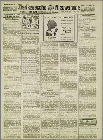 Zierikzeesche Nieuwsbode 1924-10-31