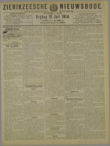 Zierikzeesche Nieuwsbode 1914-07-10
