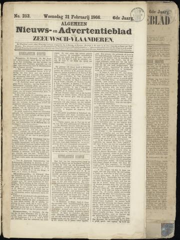 Ter Neuzensche Courant. Algemeen Nieuws- en Advertentieblad voor Zeeuwsch-Vlaanderen / Neuzensche Courant ... (idem) / (Algemeen) nieuws en advertentieblad voor Zeeuwsch-Vlaanderen 1866-02-21