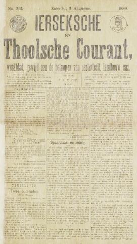 Ierseksche en Thoolsche Courant 1889-08-03