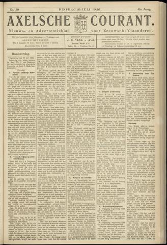 Axelsche Courant 1926-07-20
