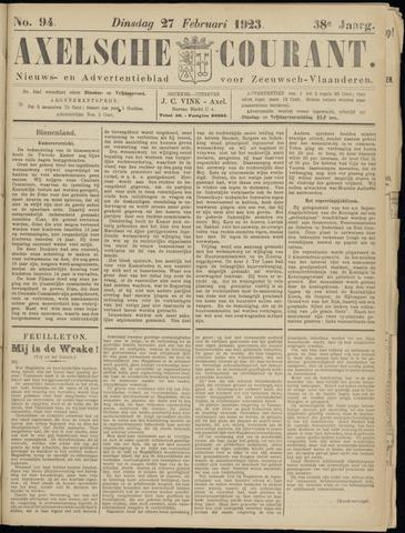 Axelsche Courant 1923-02-27