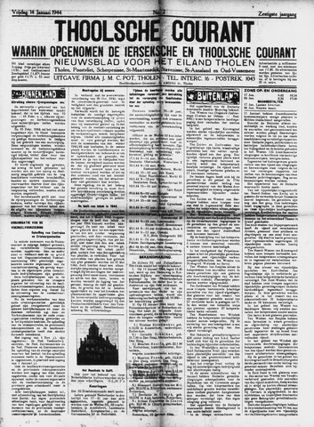 Ierseksche en Thoolsche Courant 1944-01-14