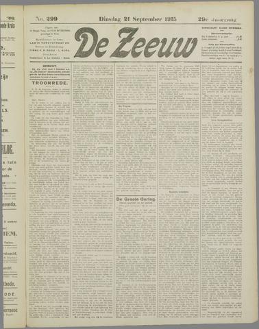 De Zeeuw. Christelijk-historisch nieuwsblad voor Zeeland 1915-09-21