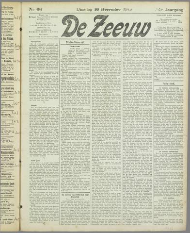 De Zeeuw. Christelijk-historisch nieuwsblad voor Zeeland 1919-12-16