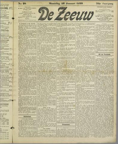 De Zeeuw. Christelijk-historisch nieuwsblad voor Zeeland 1920-01-26