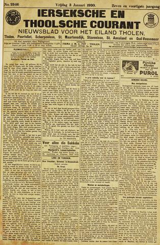 Ierseksche en Thoolsche Courant 1930-01-03