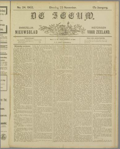 De Zeeuw. Christelijk-historisch nieuwsblad voor Zeeland 1902-11-25