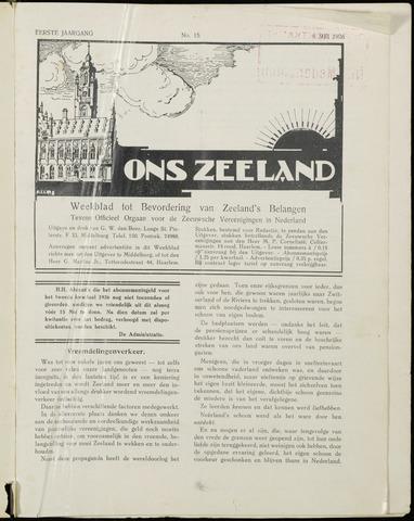 Ons Zeeland / Zeeuwsche editie 1926-05-08
