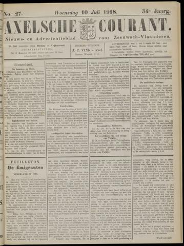 Axelsche Courant 1918-07-10
